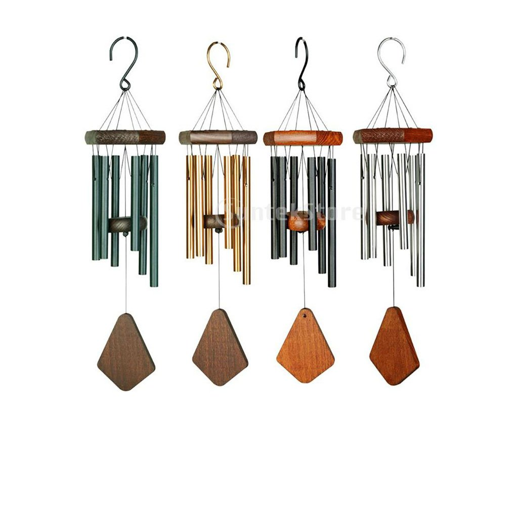 Homyl 4pcs Vintage Wind Chimes Outdoor Wind Chimes Garden Wind Chime 6 Tubes Chimes for Yard Garden Outdoor Bedroom Ornaments