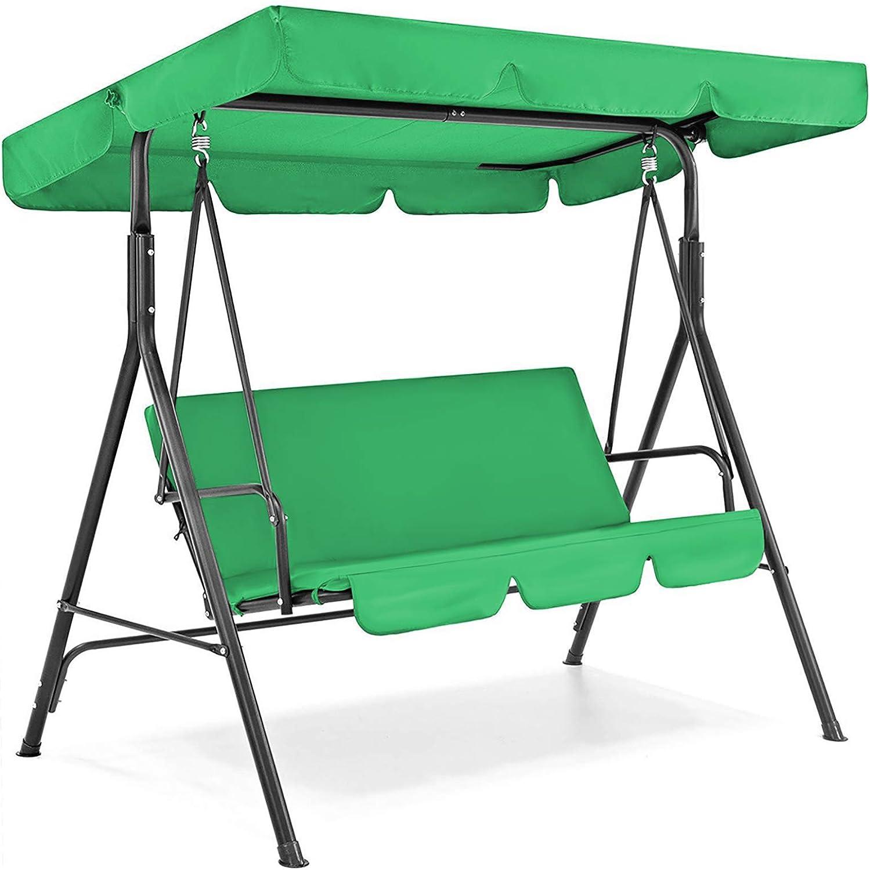 Patio Swing Cover Set, Waterproof Swing Canopy Seat Top Cover + Swing Seat Cover for Garden Patio Swing