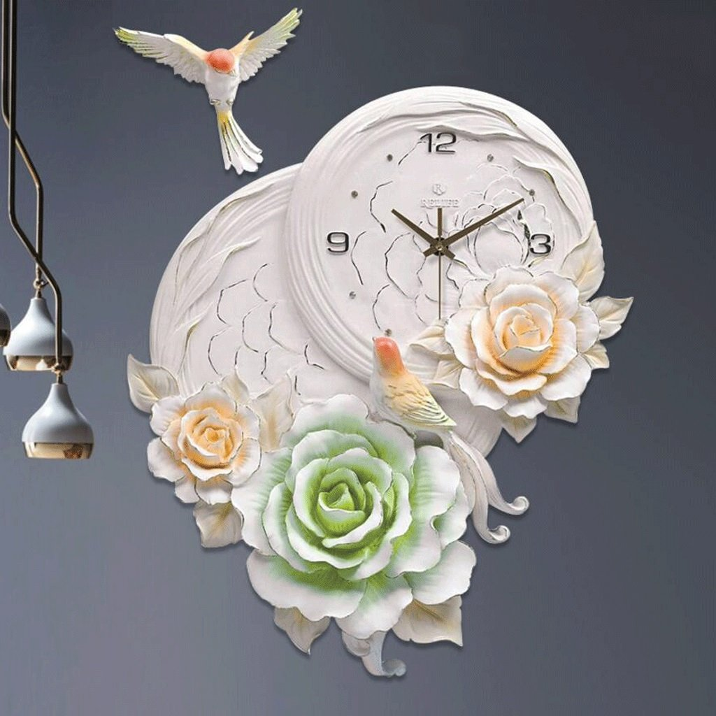 TXXM® 家具三次元クリエイティブウォールクロックモダンなリビングルーム時計パーソナリティラージクロックハンギングテーブルサイレントクォーツ時計 (色 : B) B07F5WZ9XC B B