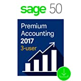 Sage 50 Premium Accounting 2017, 3-User [Download]