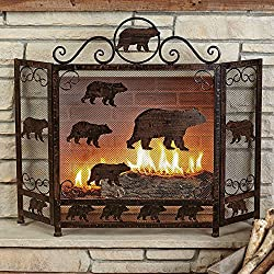 Black Forest Decor Decorative Rustic Indoor and Outdoor Fireplace Screen from Black Forest Decor