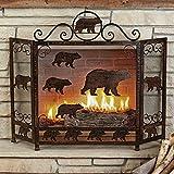 Cheap Rust Finish Bear Fireplace Screen