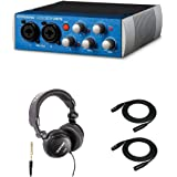 Presonus AudioBox USB 96 Recording System with Headphones and 25' XLR Cables