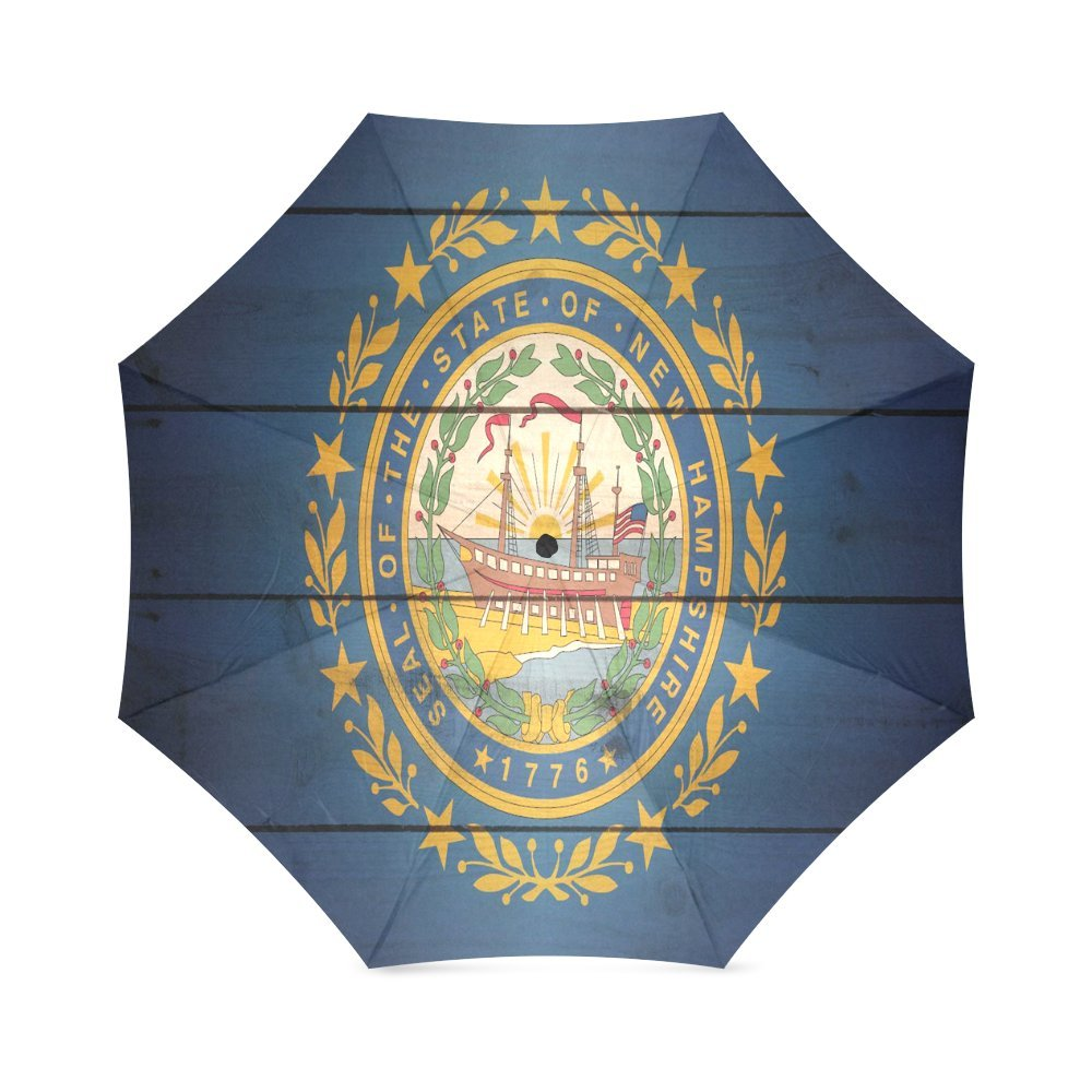 カスタム新しいHampshire State Flagコンパクト旅行防風防雨折りたたみ式傘 B075ZN5YD7