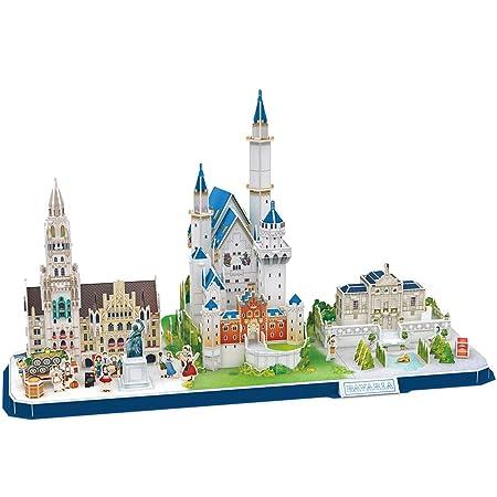 CubicFun 3D Puzzle CityLine Architekturgebäude Geschenk für Kinder und Erwachsene (Bavaria CityLine)