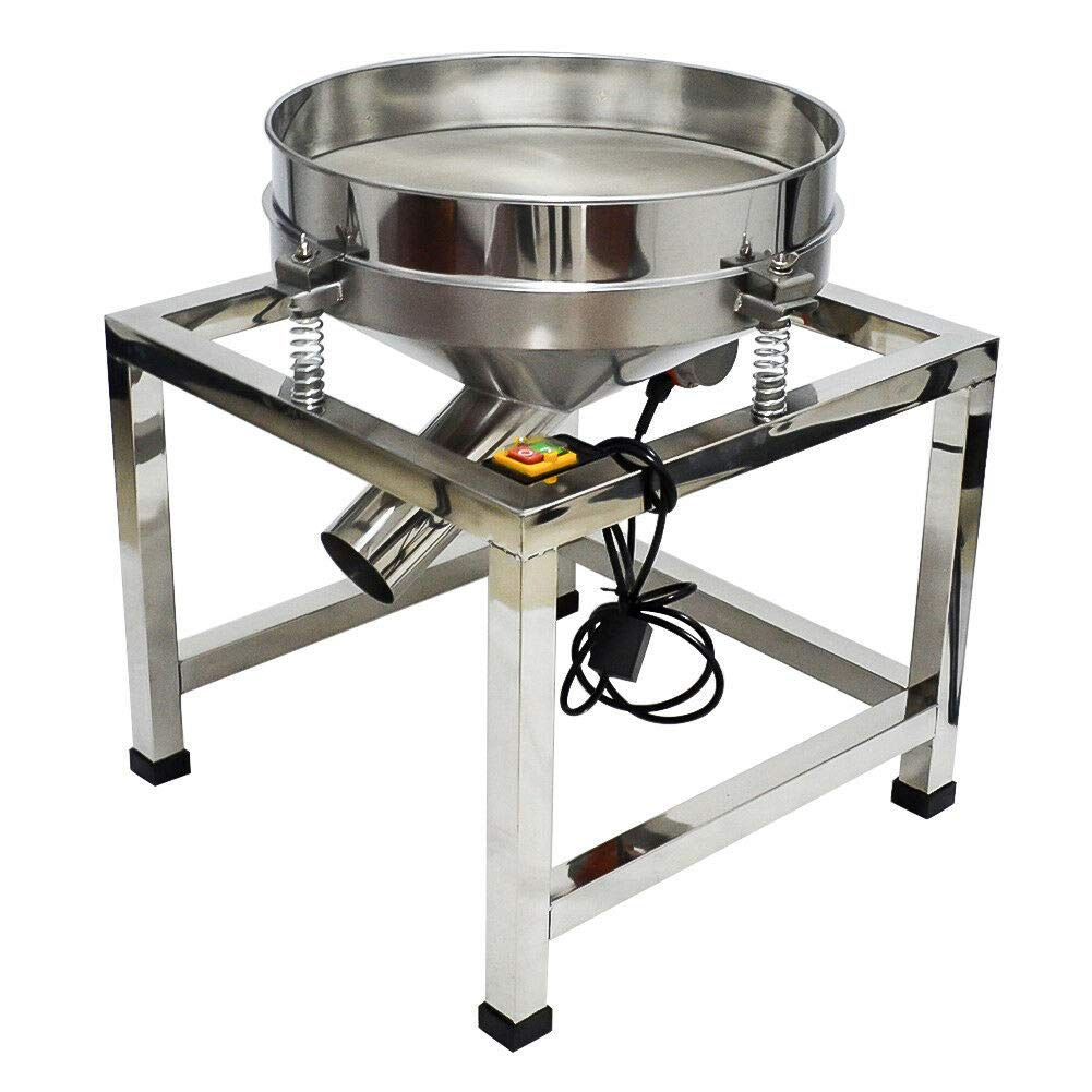 19.6'' 110V Automatic Vibrating Sifter Shaker Machine Industrial Food Processing for Powder With 80 Mesh Screen Sieve by Taishi