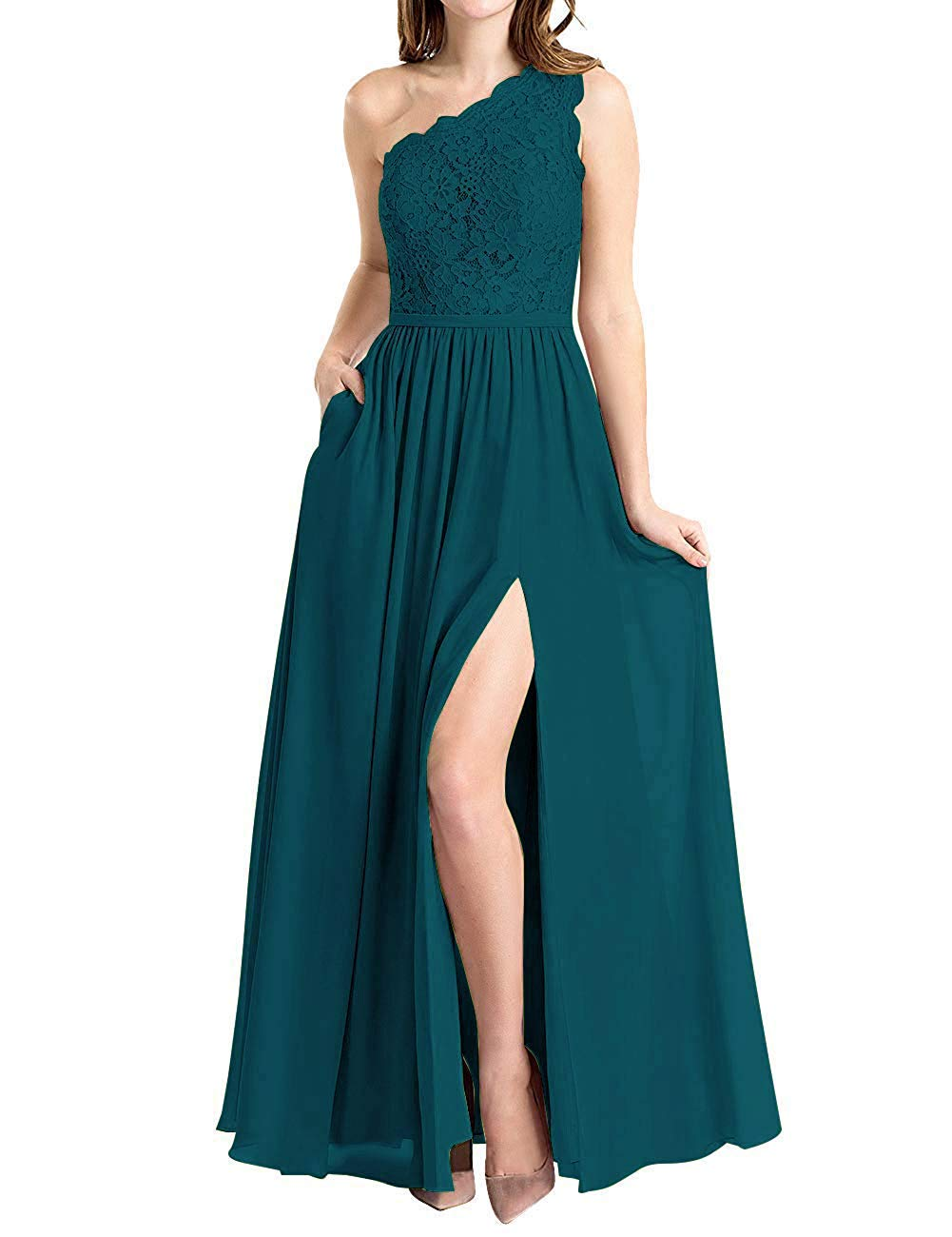Liaoye Womens Sweetheart Ruched Chiffon High Low Bridesmaid Dress 2019 Evening Wedding Party Gowns