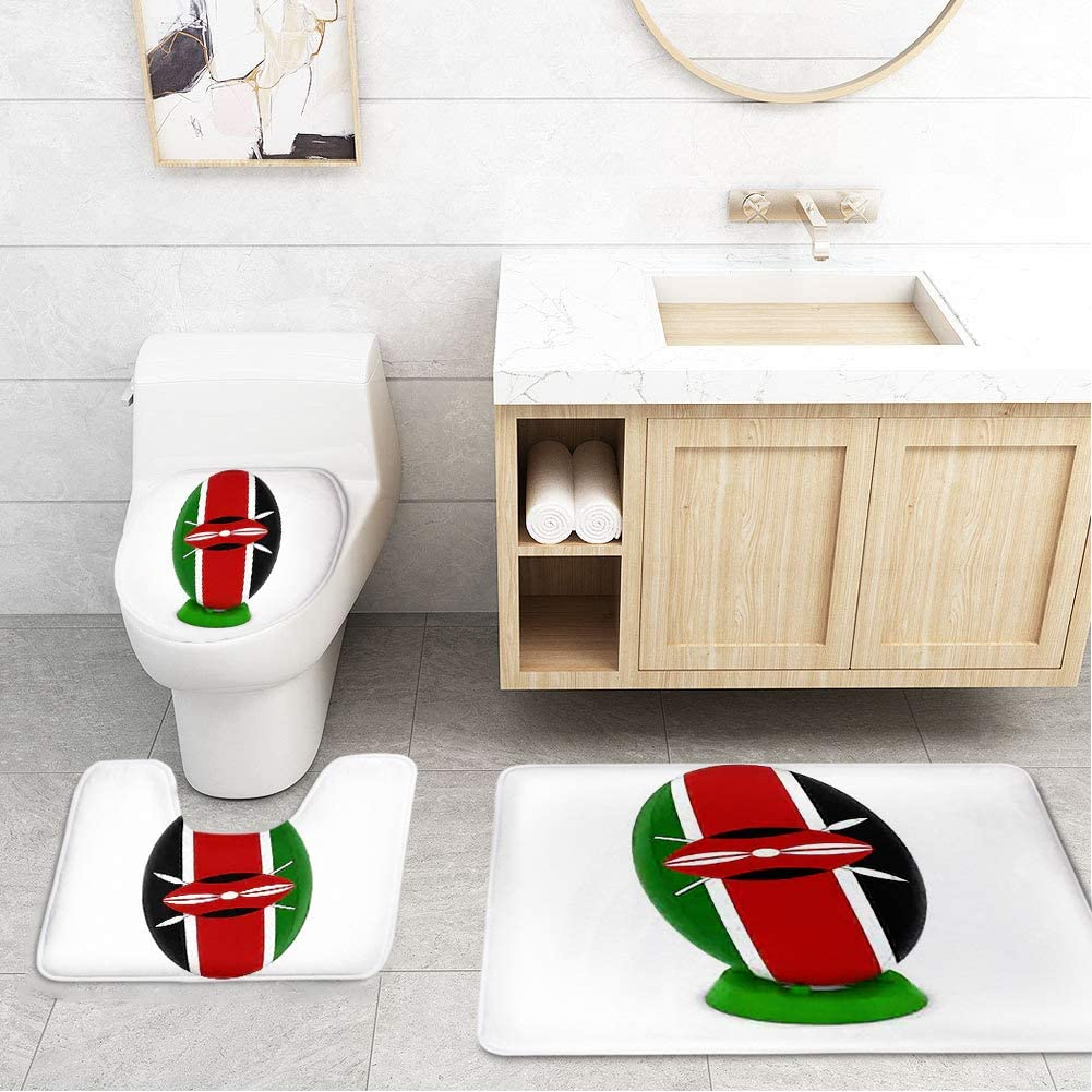 Amazon.com: Bathroom Toilet Mats Lid Sets Rugs 6-Piece, Kenya