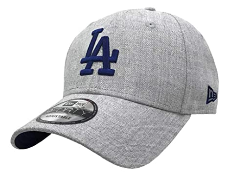 brand new bee27 a558f New Era 2019 MLB Los Angeles Dodgers Baseball Cap Hat 9Forty Adjust Heather  Gray at Amazon Men s Clothing store