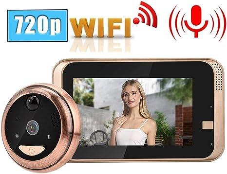 4.3 Zoll LCD Smart WiFi Wireless Video Türklingel 166° 720P IR Kamera Türspion