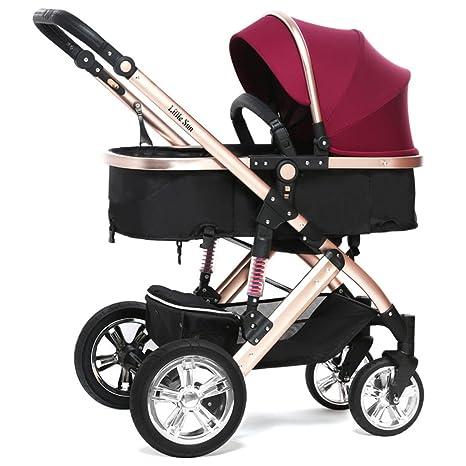 ZXLDP Sillas de Paseo Carretilla de Carro de bebé Puede Sentarse Puede acostarse Verano Niños Carrito