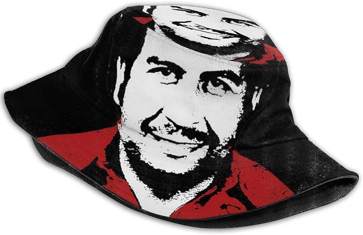 XBYC Cappello da Pescatore Pablo Escobar Fisherman Nero Crazy One Size Cappello da Pescatore per Uomo e Donna