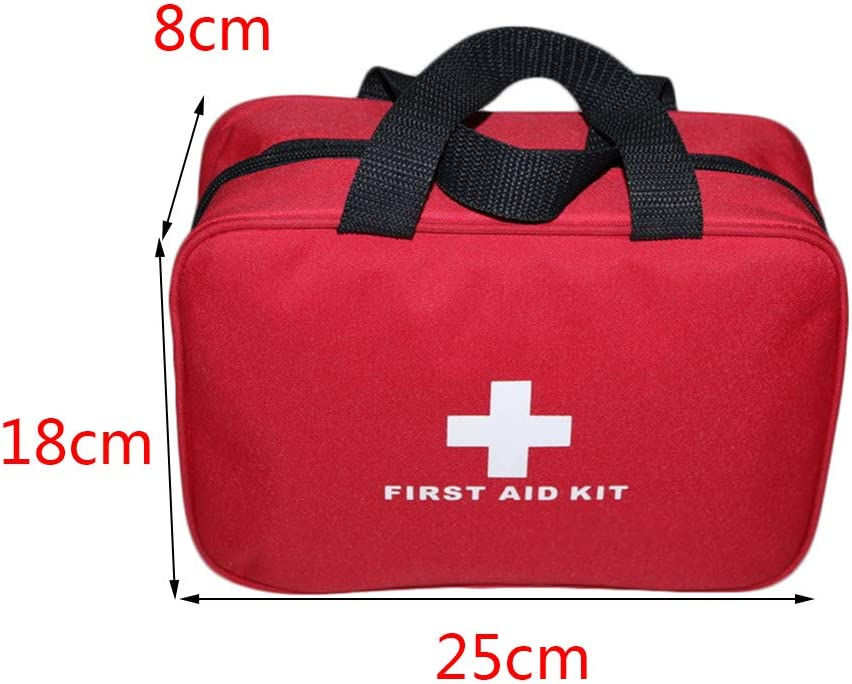 Car Travel First-Aid Bag Large Outdoor Emergency kit Bag Camping Survival Kits with red