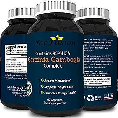 Pure Garcinia Cambogia Extract 95% HCA - Best Natural Weight Loss Supplement - Metabolism Boost Burn Belly Fat Increase Energy Appetite Suppressant Antioxidants - Pills for Men and Women by Biofusion