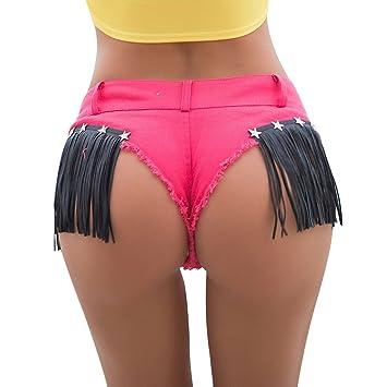 Étoilé Short Jeans En Pantalon Shorts Pompon Chaud Fesses Reveal À xaxfSwIq