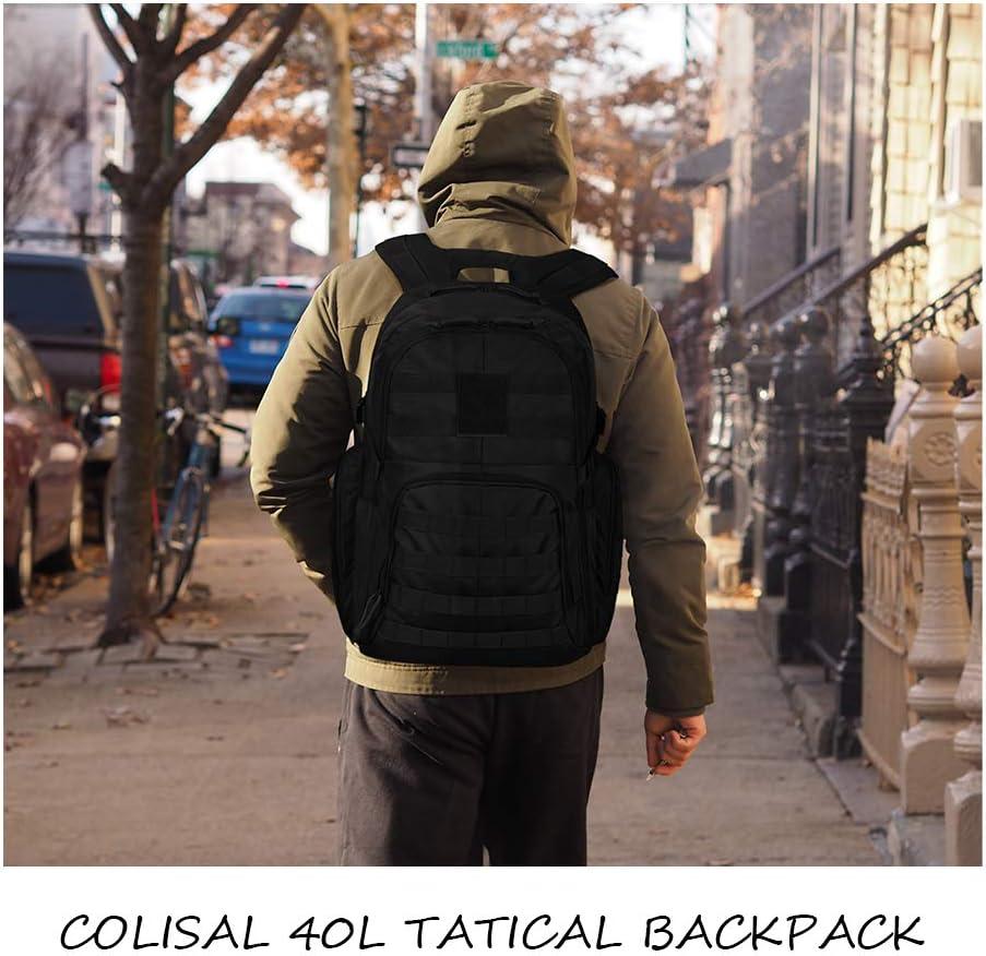 Colisal Mochila Militar 40L /& 25L Mochila Tactica para Hombre Mochila Ejercito con Molle Gran Capacidad Mochila Asalto para Senderismo Mochila