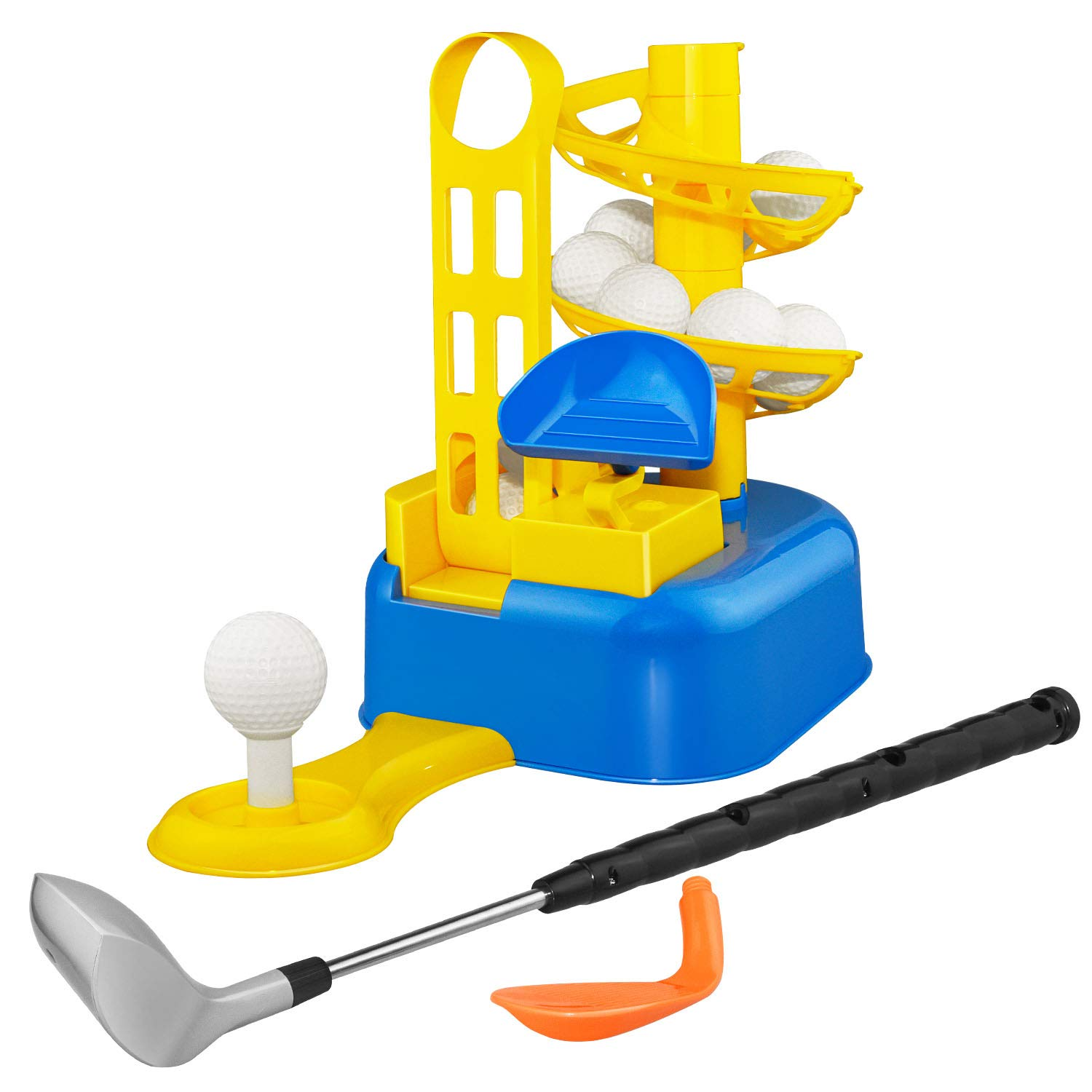 Outdoor Toys for 3-8 Year Old Boys, dmazing Golf Set For Kids 3-8 Golf Ball Game Early Educational Toys For 3-8 Year Old Boys Girls Christmas Xmas Gifts Age 3-8 Stocking Stuffers Stocking Fillers Blue by dmazing