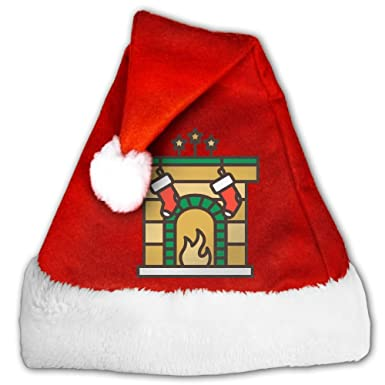 soa7q fireplace christmas santa hats holiday decorations hats for kids adult christmas gifts nice christmas tree - Fireplace Christmas Decorations Amazon
