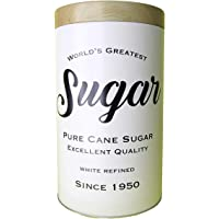 Lata metal Expresso Round Pure Sugar branco 12x8x9,9cm Urban
