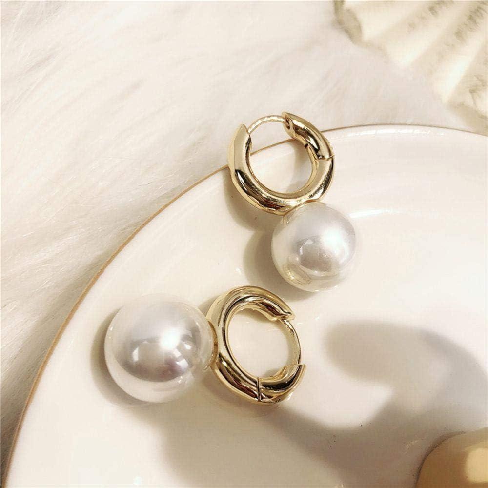 RKWEI Pendientes para Mujer Pendientes De Perlas De Color Gris Blanco para Mujeres Pendientes De Novias