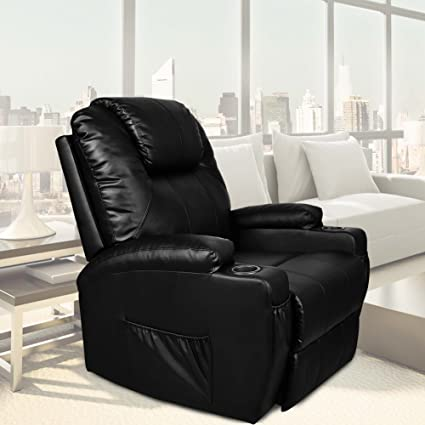 Beau U MAX Power Lift Chairs Recliner For Elderly PU Leather Heated Vibration  With Remote