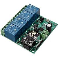 DollaTek 12 V ESP8266 fyra sätt wifi-relä IOT smart hem Cepphone APP-fjärrkontrollbrytare