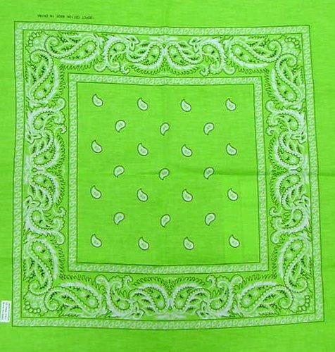 Lime Green Paisley Cotton