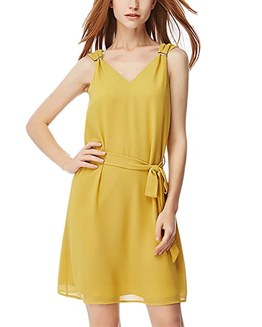 Vestidos Cortos Verano Mangas V Battercake Sin Cuello Fashion Mujer tQhrCsd