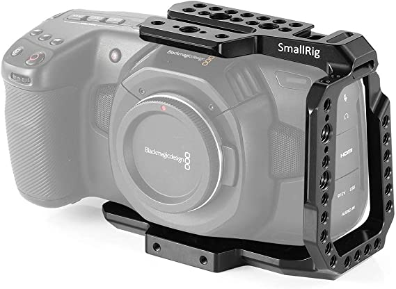 SMALLRIG BMPCC 4K/6K Half Cage Compatible with Blackmagic Pocket Cinema Camera 4K/6K