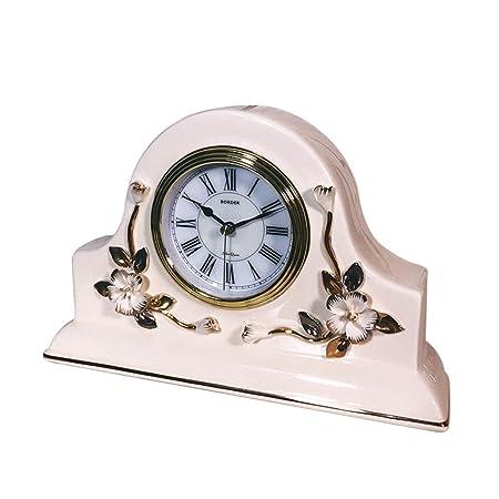 SESO UK- Reloj de Mesa de cerámica Europeo Reloj silencioso de ...