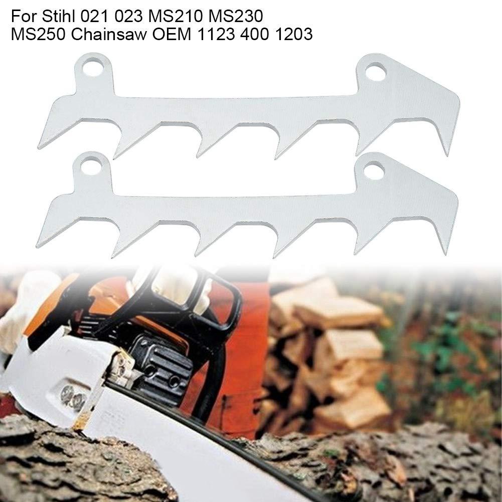 2PCS Bumper Spike Felling Dog Kit for Stihl MS170 MS180 MS210 MS250 017 018 021