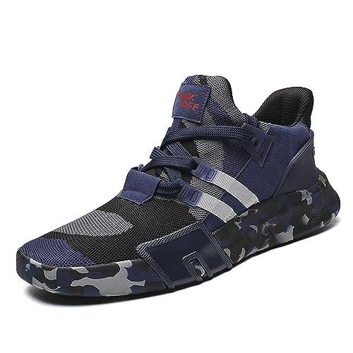 Hombres Zapatillas de Verano jóvenes Moda Ligero Transpirable Zapatos Casuales Masculinos cómodos: Amazon.es: Zapatos y complementos