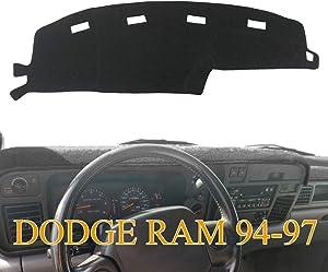 Yiz Dashboard Cover Dash Cover Mat Pad Custom Fit for Dodge Ram 1500 2500 3500 1994 1995 1996 1997 (Ram 94-97, Black) J23