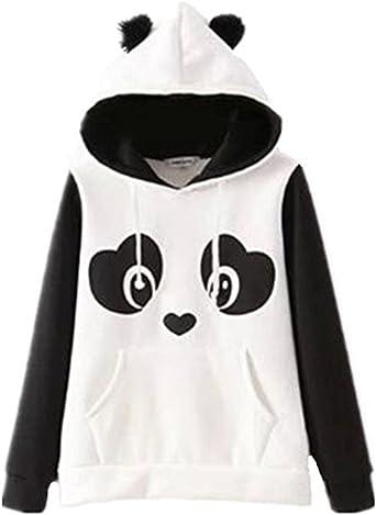 Femmes Panda Hoodies kawaii manteau hiver Sweat Pull Veste Outwear Belle