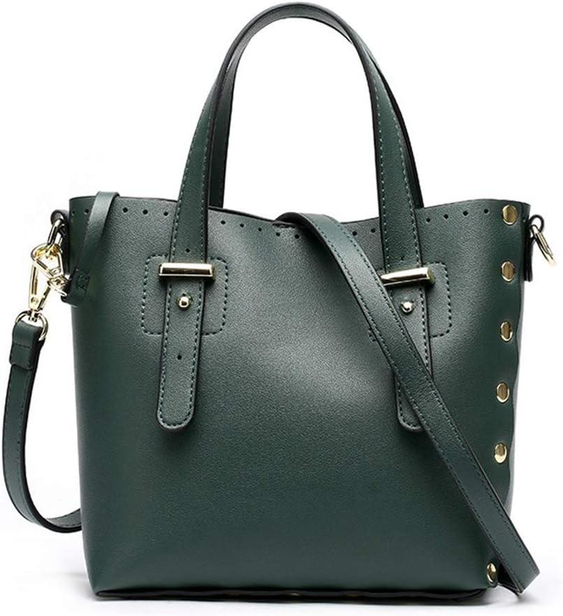 Color : Green Big Bag Women Fashion Bag Simple PU Waterproof Portable Shoulder Bag Oblique Shoulder Bag