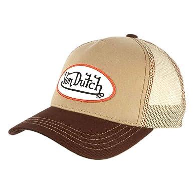 Von Dutch - Gorra de béisbol para Hombre, Color marrón y Beige ...