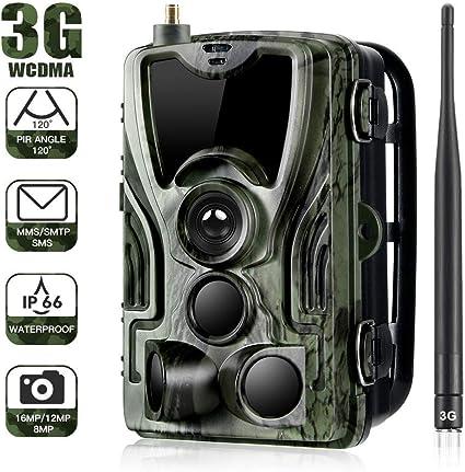 f/ür den Au/ßenbereich Video HD 1080p und 12 MP mit hoher Aufl/ösung wasserdicht und Einer Ausl/ösegeschwindigkeit von 0,8 Sekunden lahomie Wildkamera Infrarot
