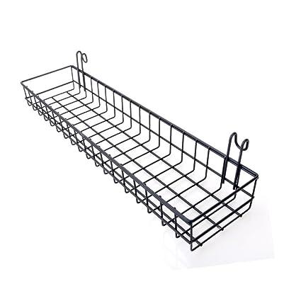 amazon com wire metal hanging basket shelf for mesh grild panel