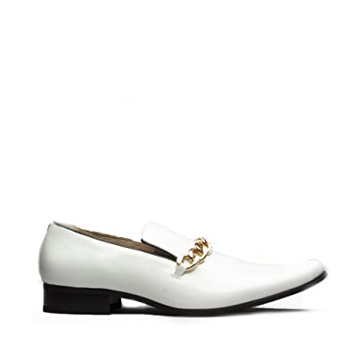 429150d1c4b Mister Carlo Sovereign Mens Patent Loafers White  Amazon.co.uk ...