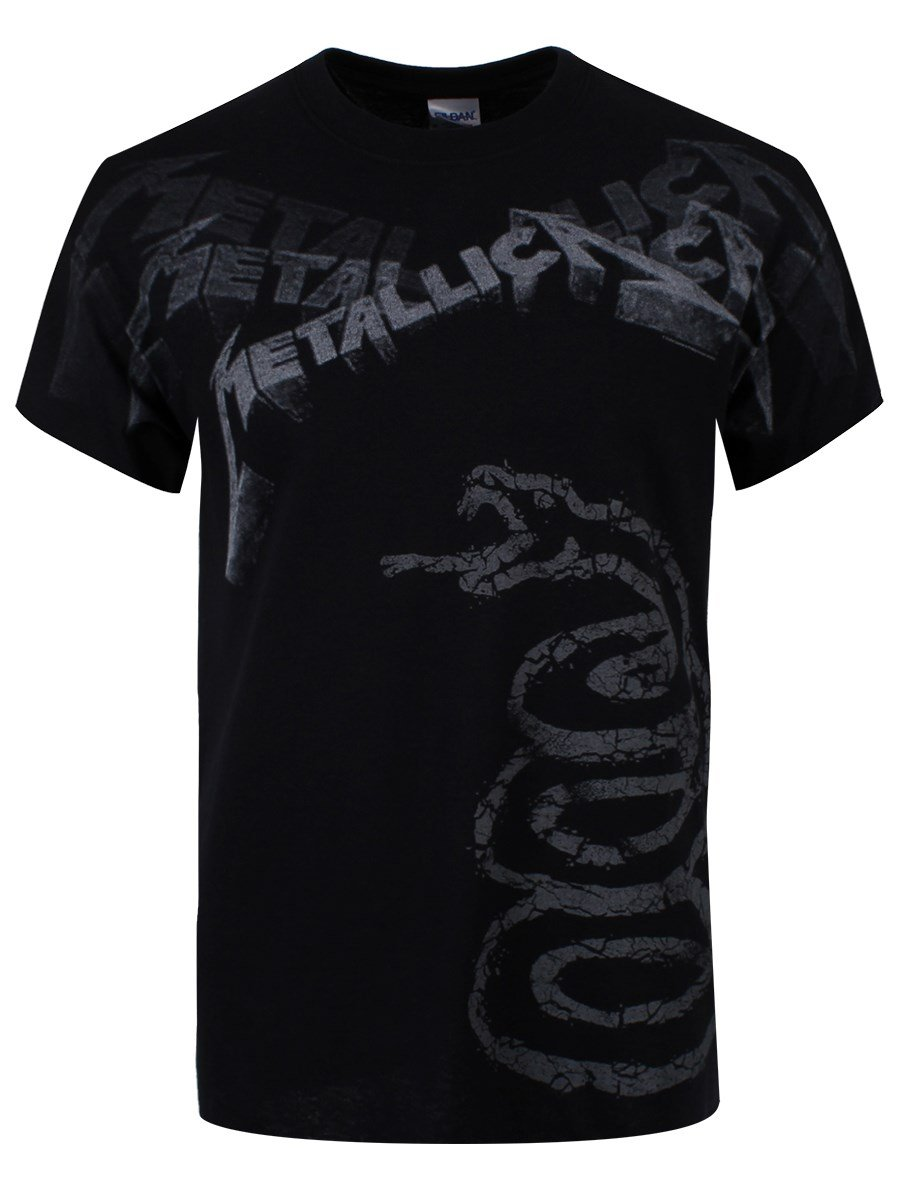 atmosphere Metallica Black Album Faded T-Shirt schwarz Probity Europe Ltd