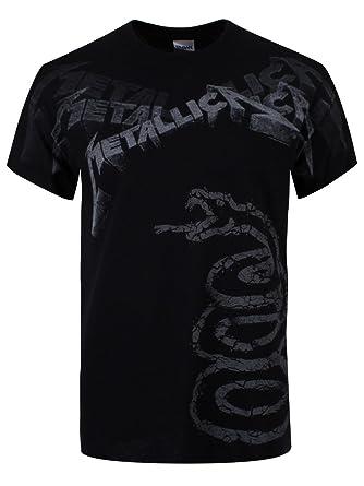 Metallica Black Album Faded T-Shirt schwarz M