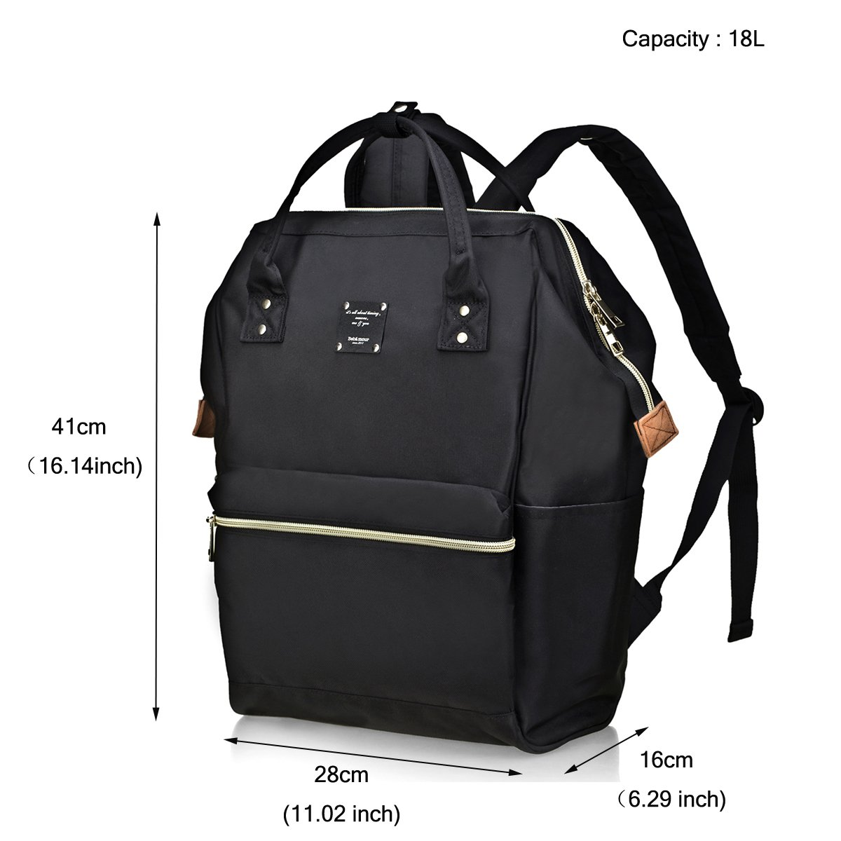 BebamourCasual College Backpack Lightweight Travel Wide Open Backpack for Women&Men,Green by Bebamour (Image #3)