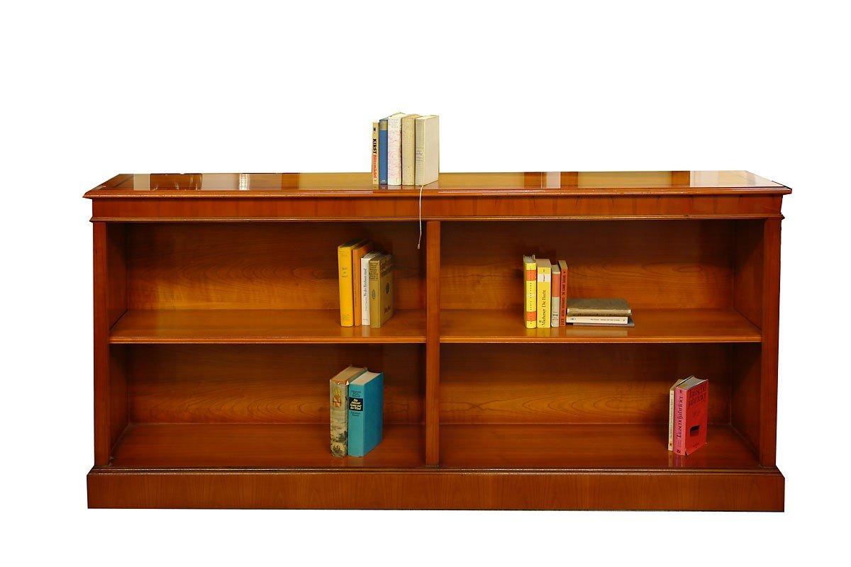 Bücherregal aus Mahagoni 2m breit im englischen Stil