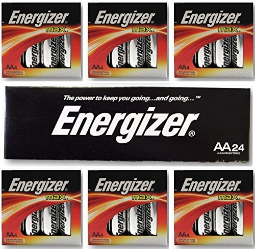 Energizer AA Max Alkaline E91 LR6 1.5V Batteries ''In Original Box'' X 24 by Energizer