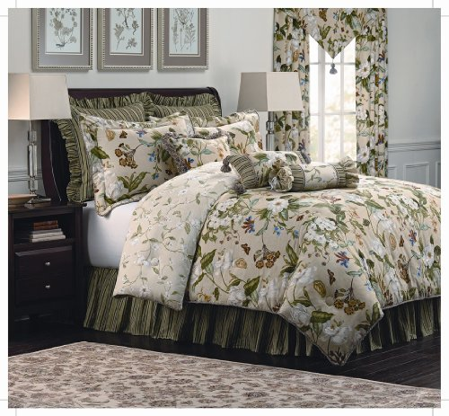 Royal Heritage Home Williamsburg Garden Images Queen Size Comforter Set, 9 Piece from Royal Heritage Home