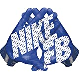 Men's Nike Vapor Jet 3.0 Football Gloves Game Royal/Gym Blue/Black/White Size Small