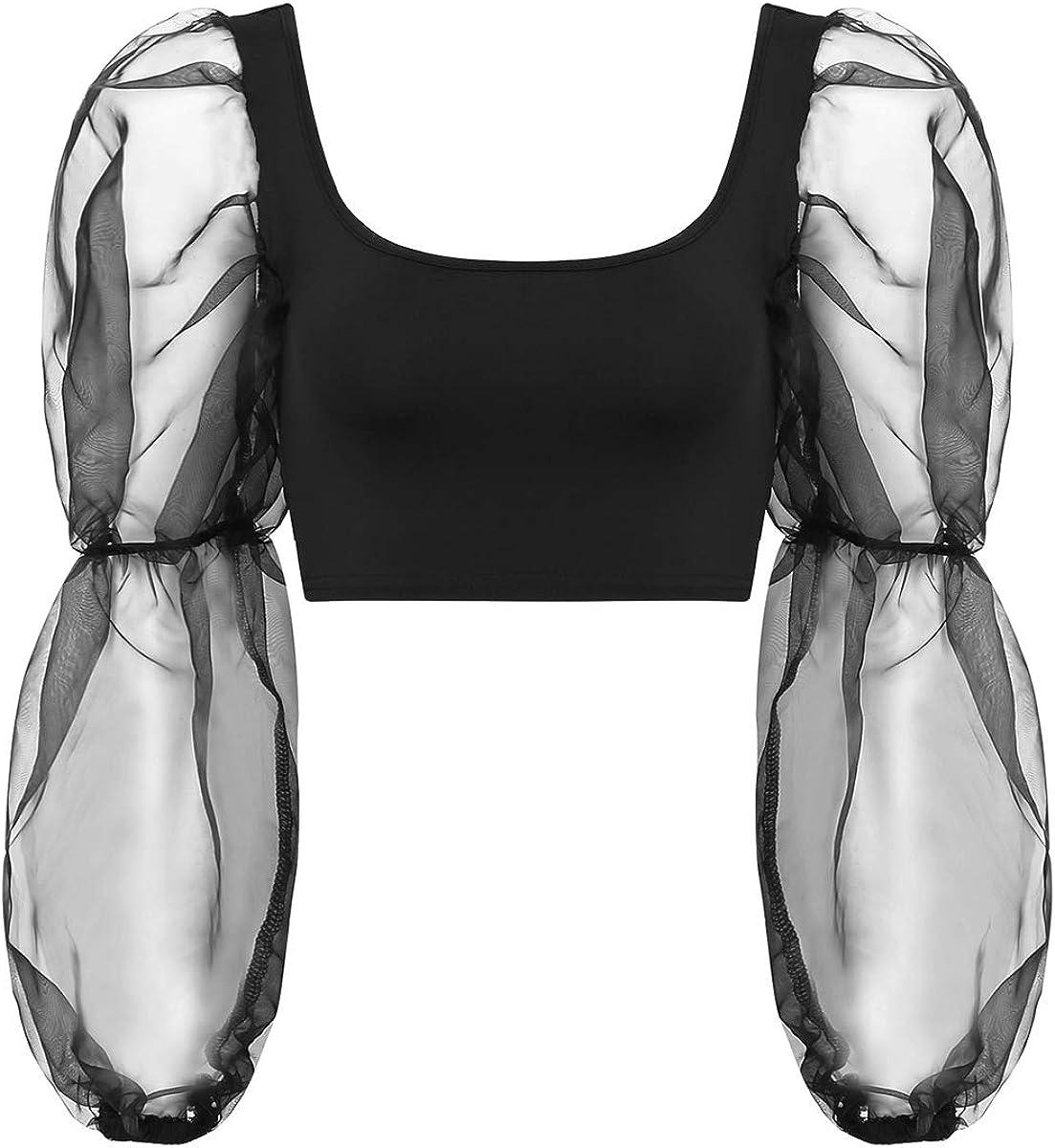 dPois Femme Haut de Danse Crop Top Dance Ballet Paillettes Camisole de Sport Brassi/ère Gymnastique D/ébardeur Court Soutien-Gorge Sport Blouse Costume Tenue Sportswear S-XL