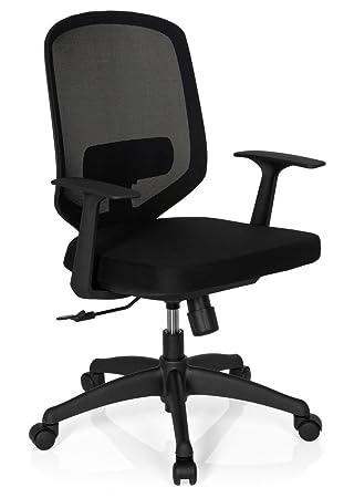 Drehstuhl ergonomisch  hjh OFFICE 657610 Bürostuhl Drehstuhl DELIGHT Netzstoff schwarz ...
