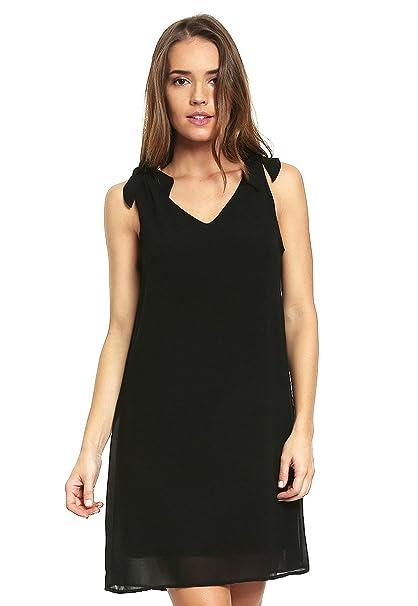 Accesorios para vestido negro con cuello v