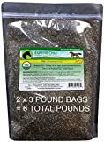 Equine Chia Brand - 6 Pounds of Certified Organic Chia Seeds in 2 x 3 Pound Bags
